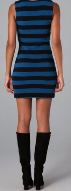 Diane von Furstenberg short dress Black/Blue on Tradesy