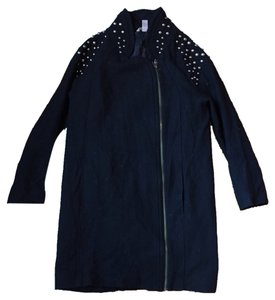H&M Embellished Overcoat Dress Studded Coat
