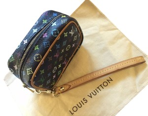 Louis Vuitton Wapity Wallet Takashi Murakami Zippy Wristlet in Monogram Multicolor BLACK