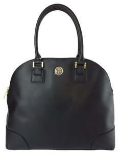 Tory Burch Dome Saffiano Large Satchel in black