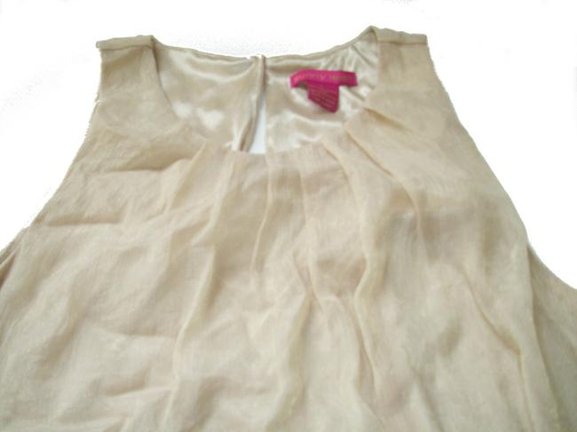 Sunny Leigh Back Keyhole A-line Silhouette. Lined. Adjustable Ties Tags Missing Gold Halter Top