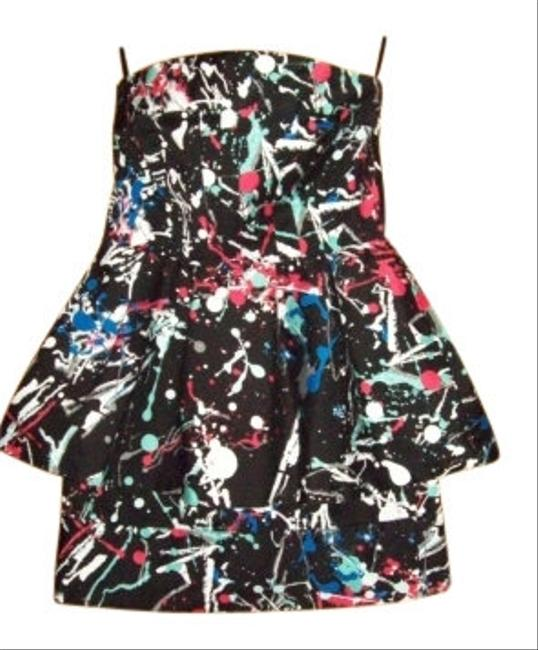 Preload https://img-static.tradesy.com/item/6866/charlotte-russe-black-and-multi-colored-short-strapless-mini-night-out-dress-size-4-s-0-0-650-650.jpg
