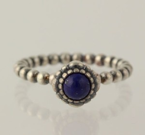 PANDORA Pandora Lapis Lazuli Ring - 925 Sterling Silver Band Womens Blue 190854lp