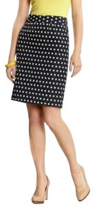 Banana Republic Polka Dot Pencil Skirt Navy
