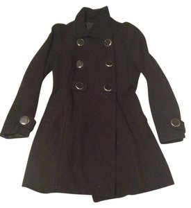 Divided by H&M Trench Button Double Breasted Long Pocket Heavy Jacket Warm Collared Pea Coat