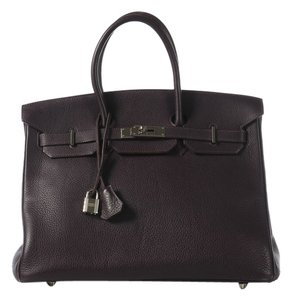 Hermès Raisin Birkin 35 Hr.j0908.02 Satchel