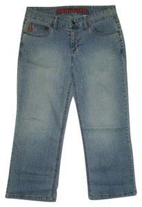 Mudd Capri/Cropped Denim-Light Wash