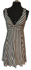 Searle short dress Black/White Striped on Tradesy