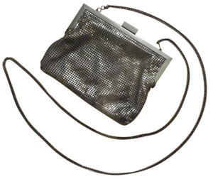 Whiting & Davis Metallic Sequin Vintage Modern Snap Shoulder Bag