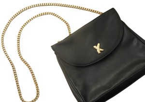 Paloma Picasso Chain Leather Hardware Shoulder Bag