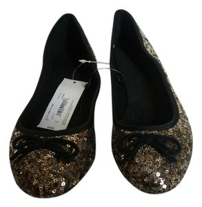 JCPenneys Causual Leisure Gold Flats