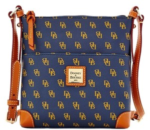 Dooney & Bourke Navy with Tan Messenger Bag