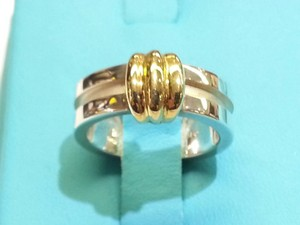 Tiffany & Co. Tiffany & Co Sterling Silver And 18 Karat Gold Ring