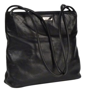 Enzo Angiolini Nappa Leather Tote in Black