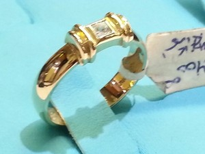 Tiffany & Co. Tiffany & Co. 14 K Yellow Gold Ring with Princess Cut Diamond 0.20 Carat