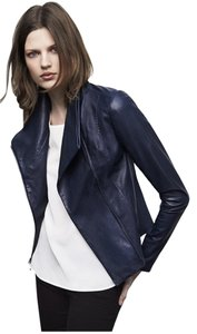 Vince Blue Leather Jacket