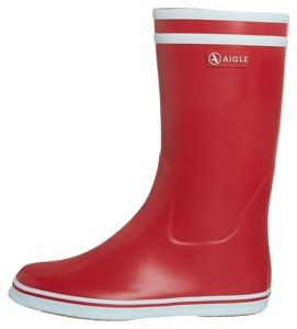 AIGLE Rubber Sporty Waterproof Red Boots