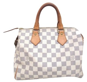 Louis Vuitton Lv Speedy25 Damier 25 Tote in White Azur