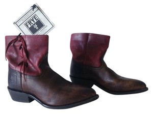 Frye Red & Brown Boots