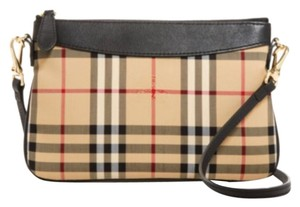 Burberry Check Peyton Wallet Cross Body Bag