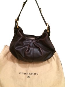 Burberry Petite Small Brown Hobo Bag