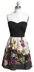 Trixxi short dress Floral Mini Strapless on Tradesy
