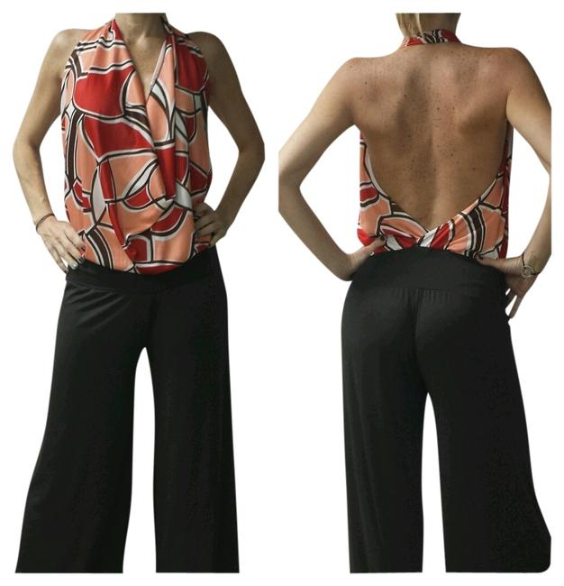 Preload https://item2.tradesy.com/images/brown-and-printed-romperjumpsuit-687061-0-0.jpg?width=400&height=650