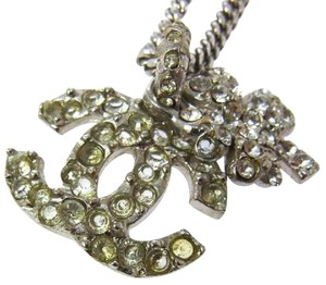 Chanel Chanel Silver/Crystal Stones Necklace