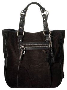 Juicy Couture Yves Velour Tote in Black