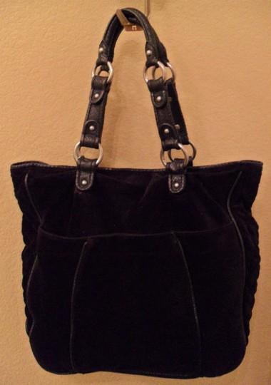 Juicy Couture Large Yves Velour Tote in Black