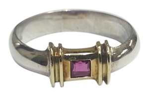 Tiffany & Co. Tiffany & Co Ruby Ring In Sterling Silver And 14 karat Yellow Gold