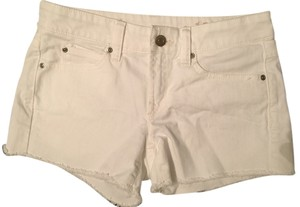 Gap Jean Jean Booty Cut Off Shorts White