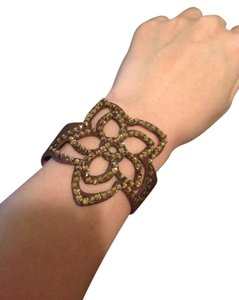 Unknown Faux Leather Flower Bracelet