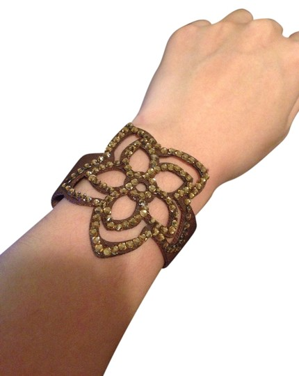 Other Faux Leather Flower Bracelet
