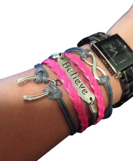 Preload https://img-static.tradesy.com/item/687143/pinkgrey-multiple-layered-bracelet-0-0-540-540.jpg