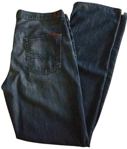 7 For All Mankind Classic Men's Mens Seven Mens Dark Relaxed Fit Jeans-Dark Rinse