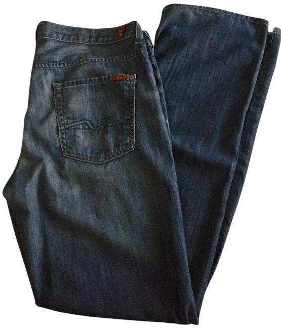 Item - Dark Rinse Relaxed Fit Jeans Size 34 (12, L)