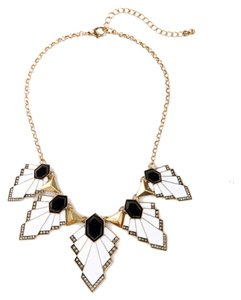 Private Collection Black White Modern Statement Necklace