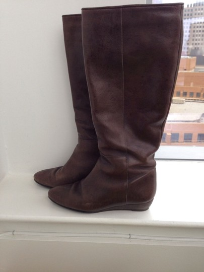 Loeffler Randall Leather Wedge Elephant Boots