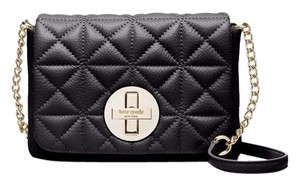Kate Spade Turnlock Quilted Leather Mini Classic Cross Body Bag