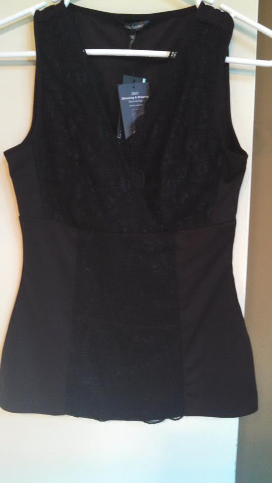 65a2fe57b1c68a Daisy Fuentes Black Shapewear Lace Slimming Tank Top Cami Size 4 (S ...