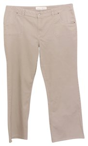 Fashion Bug Flap Pockets Khaki/Chino Pants Tan