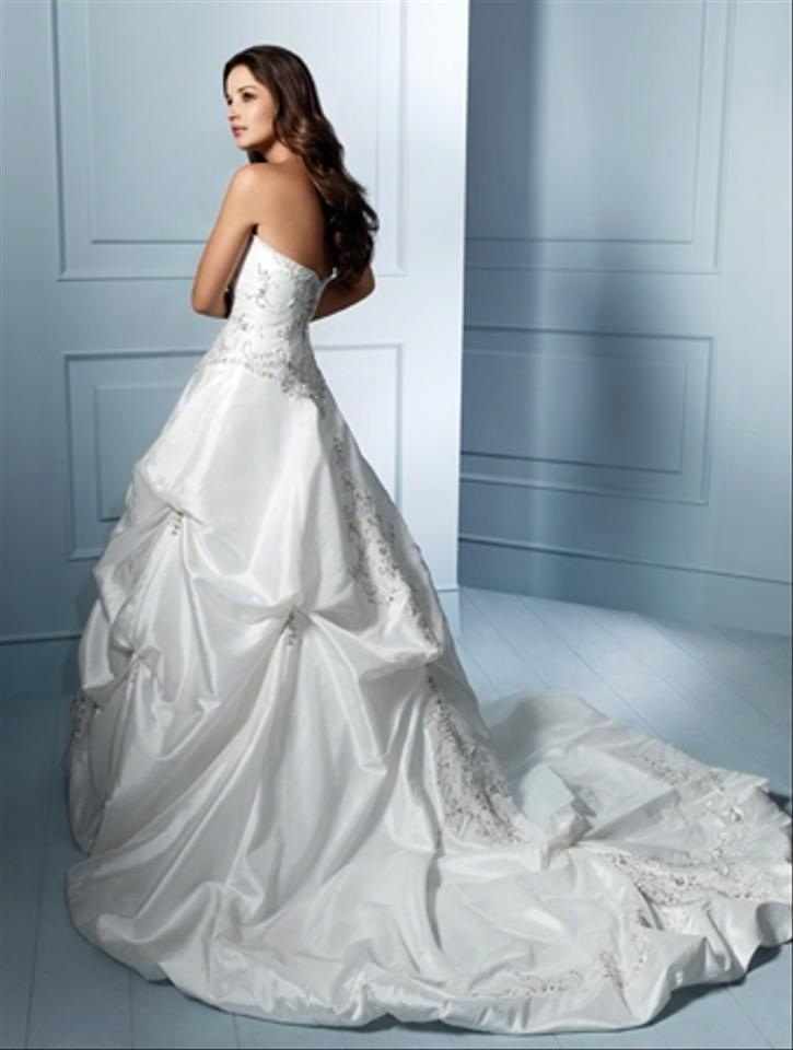 Alfred Angelo Diamond White Taffeta Embroidery Crystal & Sequins ...