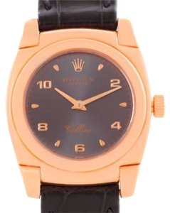 Rolex Rolex Cellini Cestello Ladies 18k Rose Gold Slate Dial Watch 5310