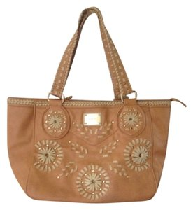Nicole Lee Tote in Tan With Light Tan Accents
