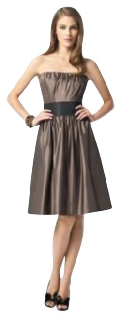 Item - Brown 2836 Mid-length Night Out Dress Size 6 (S)