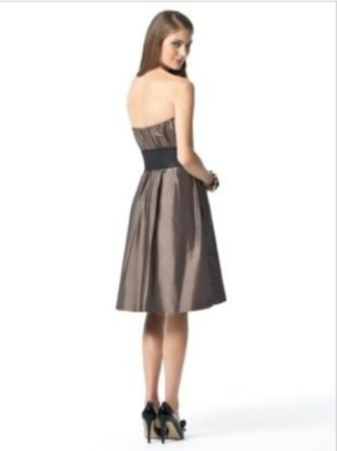 Dessy Strapless Cocktail Length Dress