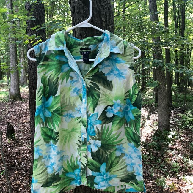 Izod Izod Tropical Silk Blouse