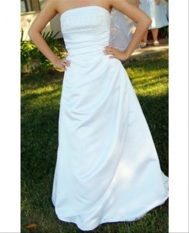 David 39 s bridal st tropez signature style v8175 white for St tropez wedding dress