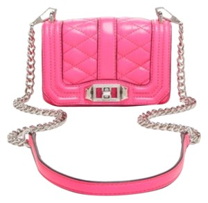 Rebecca Minkoff Mini Love Quilted Pink Cross Body Bag